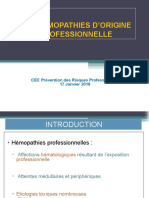 HEMOPATHIES D`ORIGINE PROFESSIONNELLE