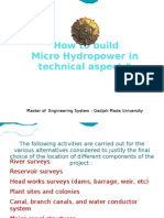How to Build Microhydropower in technical Aspect - task of group 2
