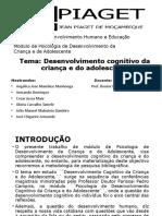 Desenvolvimento Cognitivo Da Criança Final - Armando Domingos