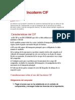 Incoterm CIF