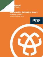 Vulnerability QuickView Report 2019 Q3 Trends