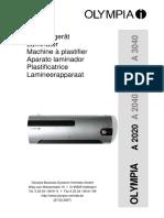 Olympia A 3020 Laminator (1)