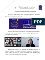 Reuniunea consorțiului proiectului Educational for drone (eDrone)