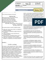 monitoria - lista 14 - romantismo ii