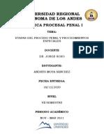 PROCEDIMIENTO ORDINARIO Y ESPECIALES COIP
