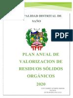 PLAN ANUAL DE VALORIZACIÓN DE RESIDUOS SÓLIDOS ORGÁNICOS - copia (Autoguardado)