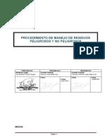 PROC MANEJO DE RESIDUOS