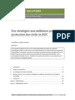 Des Stratégies non militaires pour la protection en RDC 2012