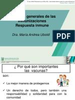 Aspectos generales de las Inmunizaciones. Respuesta inmune de las vacunas - Dra. María Andrea Uboldi (PPT)