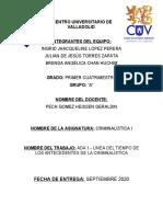 CRIMINALISTICA I. LINEA DEL TIEMPO_1A