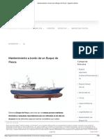 Mantenimiento a Bordo de Un Buque de Pesca - Ingeniero Marino