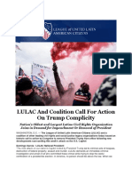 LULAC and Coalition Call for Action on Trump Complicity