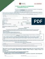 Modulo di rimborso UniSalute garanzia Covid-19