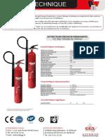 09-Extincteurs 5 kgs Dioxyde de Carbone CO2