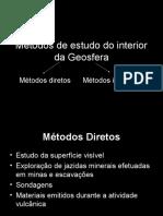 Métodos de estudo do interior da Geosfera