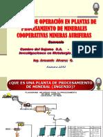 Control Operacion Plantas Concentracion Oro Coop. Min Au.