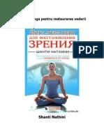 Terapia Yoga Pentru Restaurarea Vederii