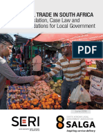 (2018) NFORMAL TRADE IN SOUTH AFRICA Legislation, Case Law and Recommendations for Local Government
