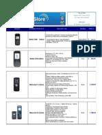 Lista de precios teléfonos celulares libres, nuevos