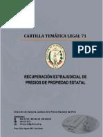 CARTILLA 71 - RECUPERACIÓN EXTRAJUDICIAL DE PREDIOS DE PROPIEDAD ESTATAL