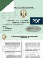 CARTILLA 68 -  EL ASESOR JURÍDICO OPERACIONAL