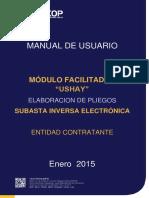 Manual USHAY - Pliegos - Subastainversa electrónica - Entidades contratantes