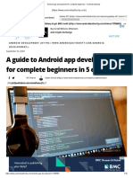 Android app development for complete beginners