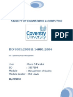 Study on ISO 9001:2008 & 14001:2004