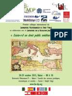 Programme colloque 28.-29.10.2015
