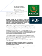 AMISOM and FEIT Meet With Civil Society Organizations Over Peaceful Elections and Freedom of Expression