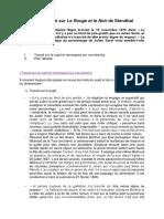 Plan Détaillé Sur Le Rouge Et Le Noir de Stendhal (1)