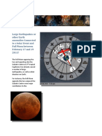 Earthquakes Volcanic Eruption Solar Event Full Moon + Galactic Centre  February 17 18 or 19 2011