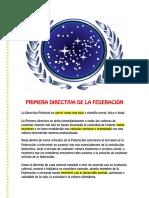PRIMERA DIRECTIVA DE LA FEDERACIÓN