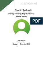 Project Report GVI Phoenix Guatemala 2010