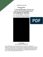 Mesmer - Theorie thierischer Magnetismus