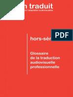 Glossaire de la Traduction Audiovisuelle professionnelle