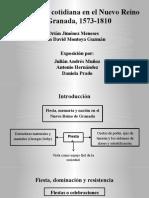 Fiesta y vida cotidiana en el Nuevo Reino de Granada, 1573-1810