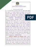 Acordo de Preenchimento de Livrança -Contenal, Lda