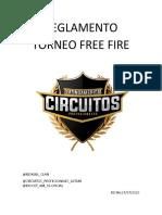 REGLAMENTO (TORNEO FREE FIRE)