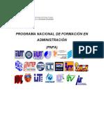 Programa Nacional de Formación en Administración