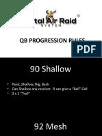 QB Progression Rules