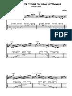 Escalas mayores posiciones cerradas por ciclo de cuartas con formas determinadas
