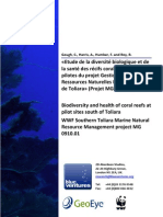 Biodiversity and health of coral reefs at pilot sites south of Toliara