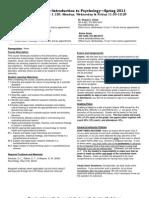 UT Dallas Syllabus for psy2301.001.11s taught by James Bartlett (jbartlet, sch052000)