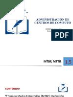 1.5 Disponibilidad  MTBF  MTTR  CC