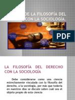 Afinidad de la filosofía del derecho con la sociologia wxposición de filosofia...