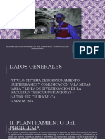SISTEMA DE POSICIONAMIENTO SUBTERRANEO Y COMUNICACIÓN PARA MINAS
