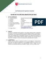 Silabo TALLER DE ELABORACIÓN DE TESIS
