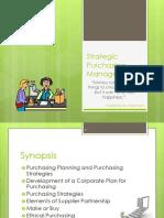 Strategic Purchasing Management