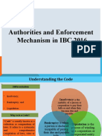 Authorities and Enforcement Mechanism in IBC 2016.pptx